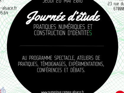 Journée d'étude «Pratiques numériques et construction d'identitéS»